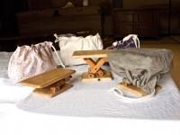 桐座椅子付属の収納用巾着袋ラインアップ画像