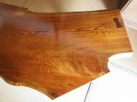拭き漆欅座卓1の甲板画像