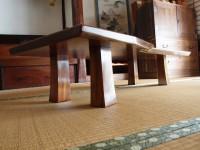 拭き漆欅座卓2の脚部画像