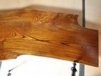 拭き漆欅座卓2の甲板画像