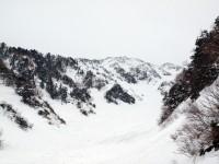 1600m付近、毛勝谷二俣より左俣方面